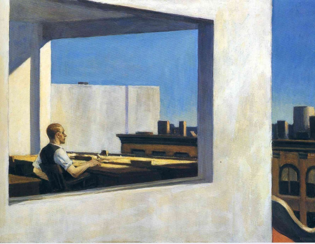 "Edward Hoper, ""Office in a Small City"", 1953"