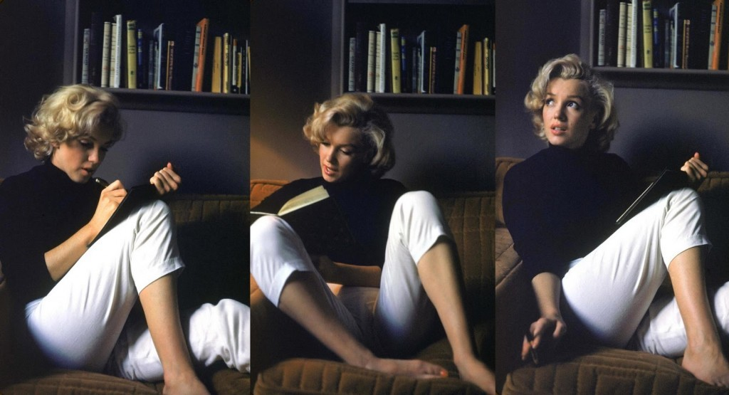Marilyn-Monroe_reading-and-writing