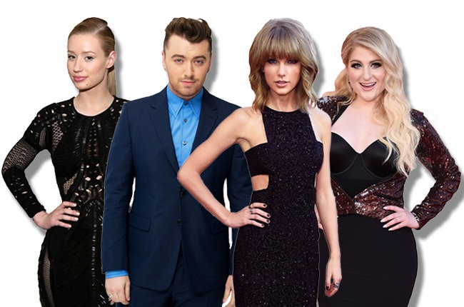 bbma-nominees-iggy-azalea-sam-smith-taylor-swift-meghan-trainor-2015-billboard-650