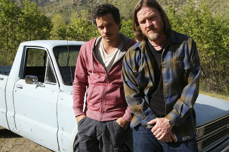TERRIERS: L-R: Michael Raymond-James as Britt Pollack and Donal Logue as Hank Dolworth in TERRIERS airing Wednesday, Oct. 6 on FX. CR:Patrick McElhenney / FX