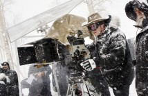 Director Quentin Tarantino on the set of THE HATEFUL EIGHT