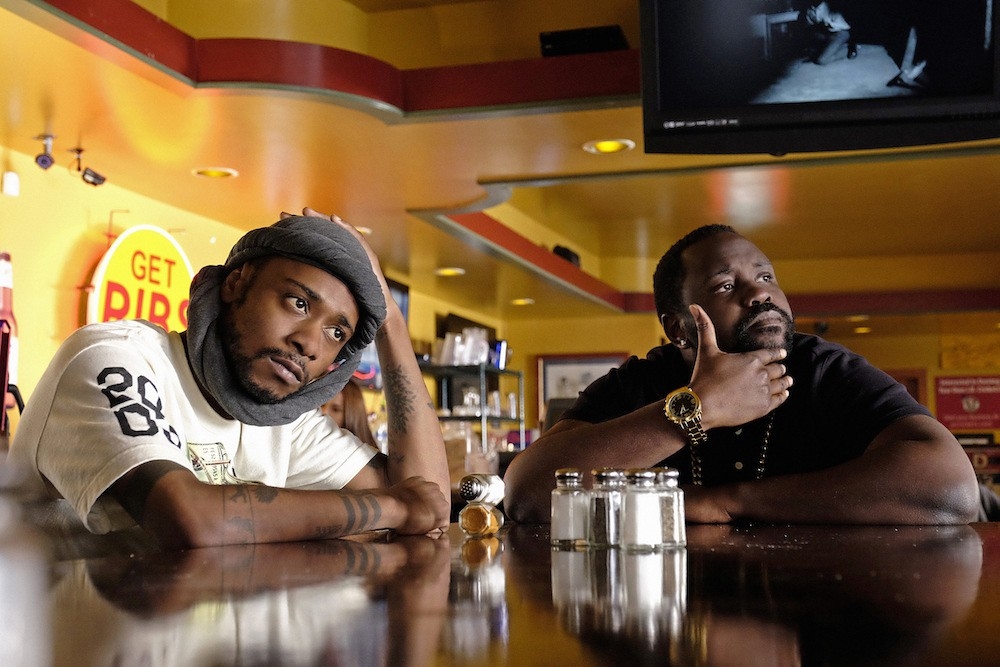 "ATLANTA -- ""Streets On Lock"" -- Episode 102 (Airs Tuesday, September 6, 10:30 pm e/p) Pictured: (l-r) Keith Stanfield as Darius, Brian Tyree Henry as Alfred Miles. CR: Guy D'Alema/FX"