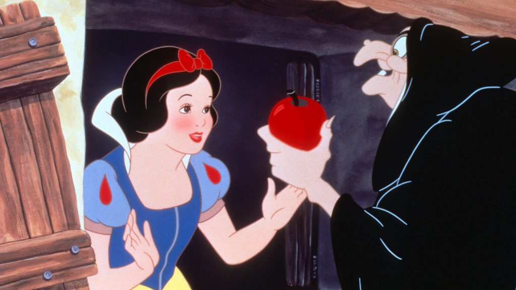 Snow White and the Seven Dwarfs (1937) Directed by David Hand Shown from left: Snow White (voice: Adriana Caselotti), the Queen/Witch (voice: Lucille La Verne)